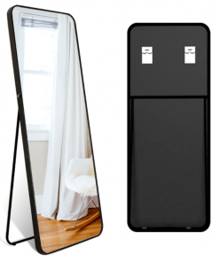 Black Modern Full-Length Mirror