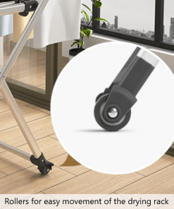 Rollers for Movement of Drying Rack