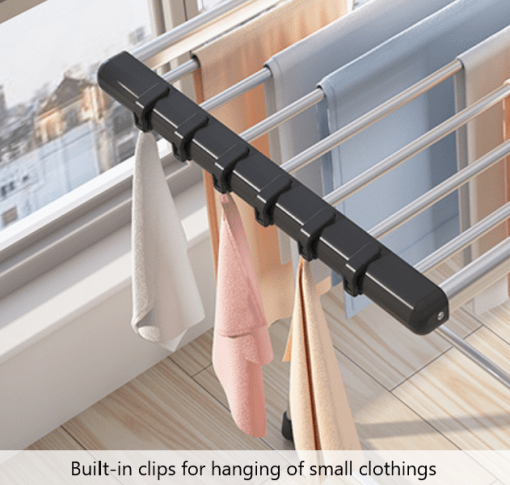 Drying Rack with Built-In Hanging Clips